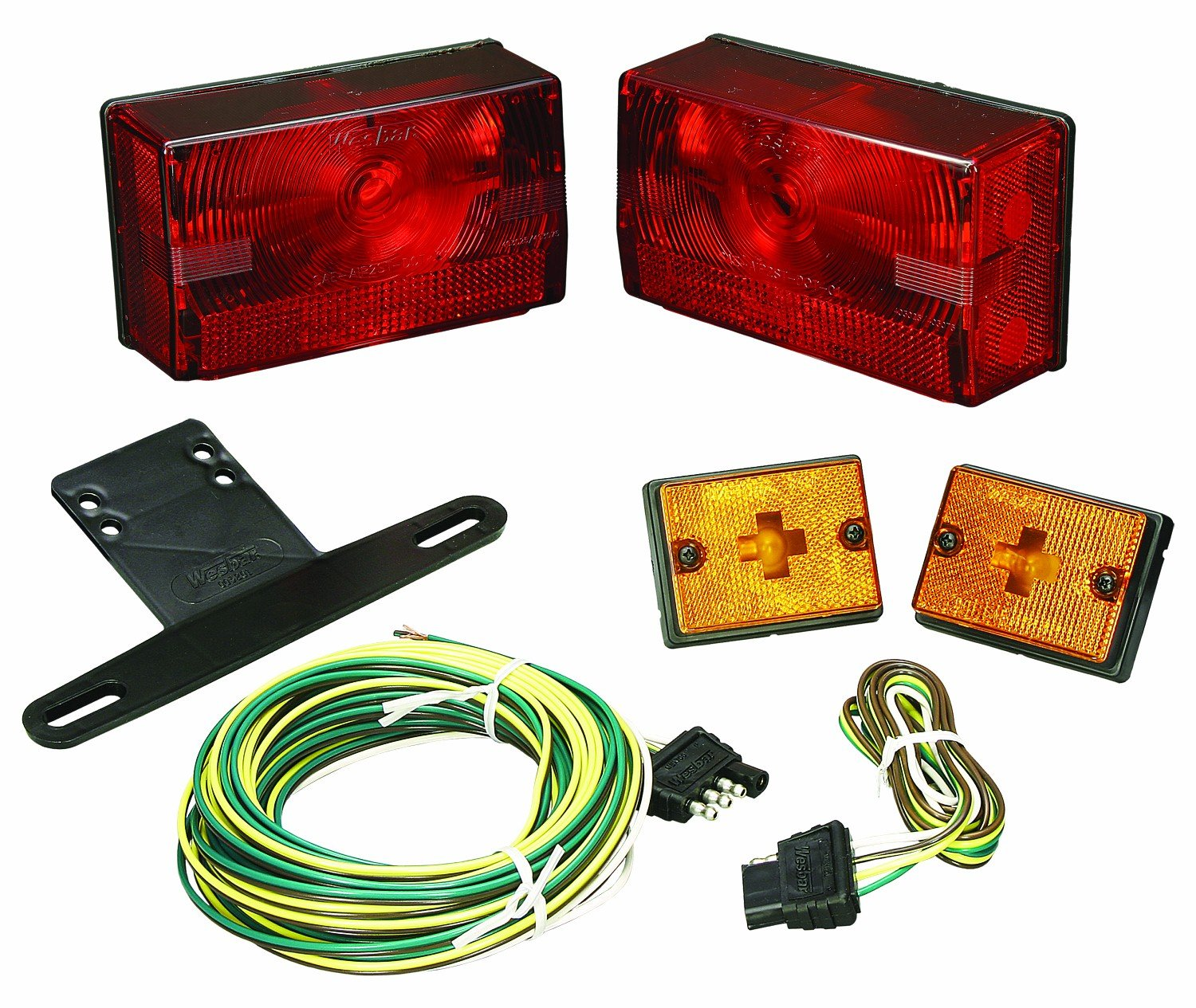 Wesbar 407515 Submersible Tail Light Kit with Side Marker/Clearance Lights, Over 80-Inch