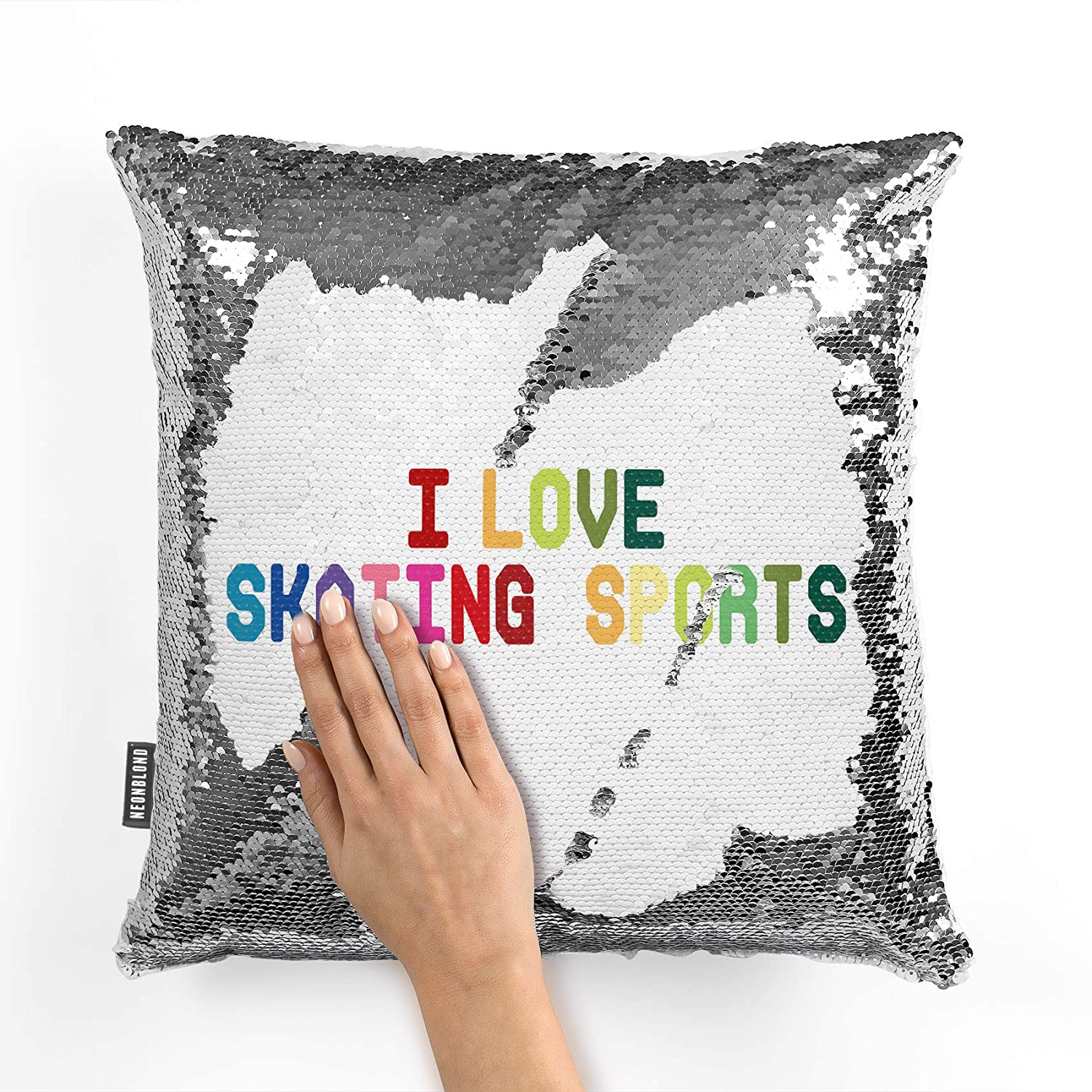 Amazon.com: NEONBLOND Mermaid Pillow Cover I Love Skating ...
