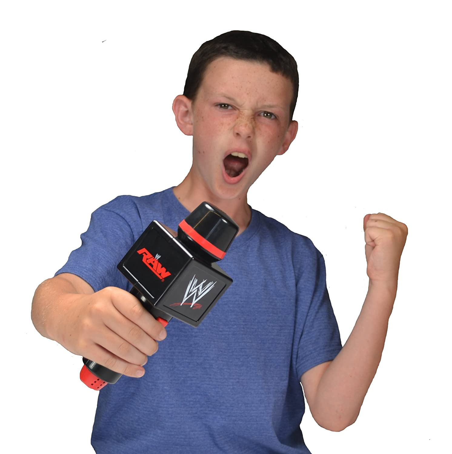 Domestic Comes with real Wrestling Sounds and Voice Amplification Wicked Cool Toys WWE Big Talker Electronic Microphone 44402US01