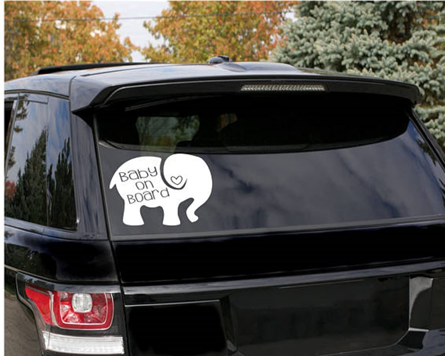 Cute elephant baby on board decal baby decal car decals baby stickers car stickers modern elephant decal elephant drawing new baby elephant sticker