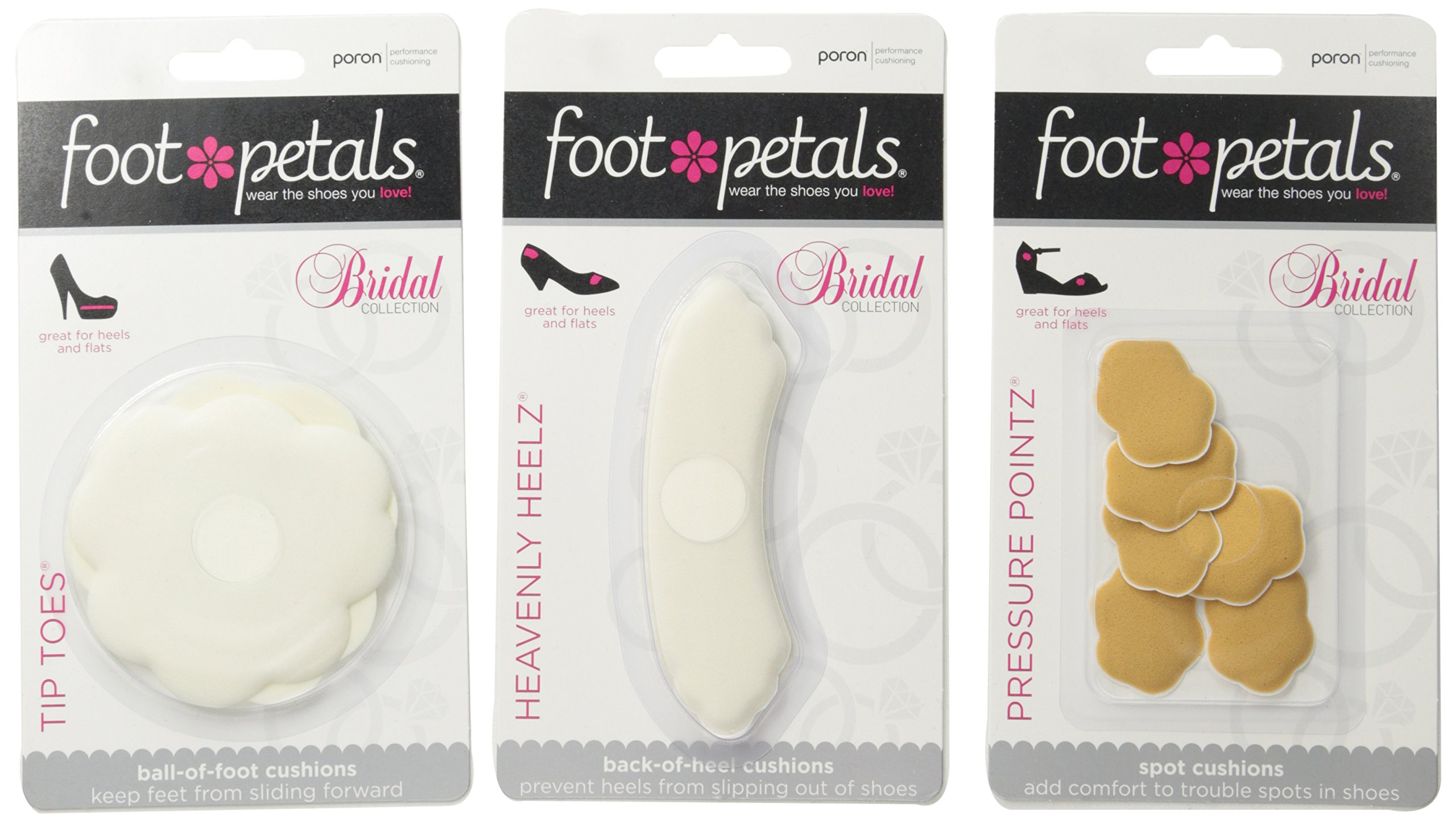 Foot Petals Women's Wedding Day Collection-W, Assorted, Medium/One Size M US