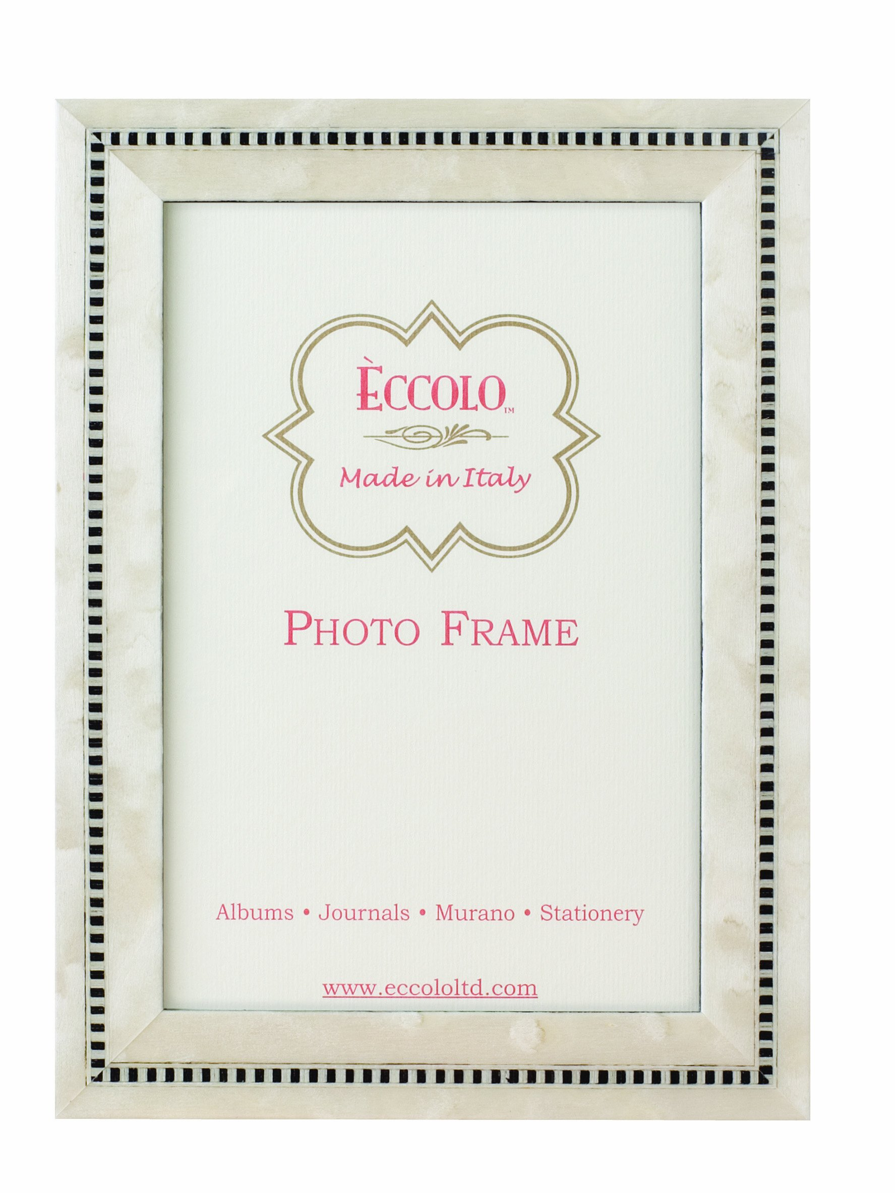 Eccolo White Anniversary Wood Frame, 8 by 10-Inch