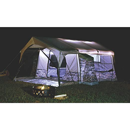 amazon com northwest territory stone cottage tent with lighting rh amazon com northwest territory olympic cottage tent replacement parts northwest territory cottage tent with screened porch