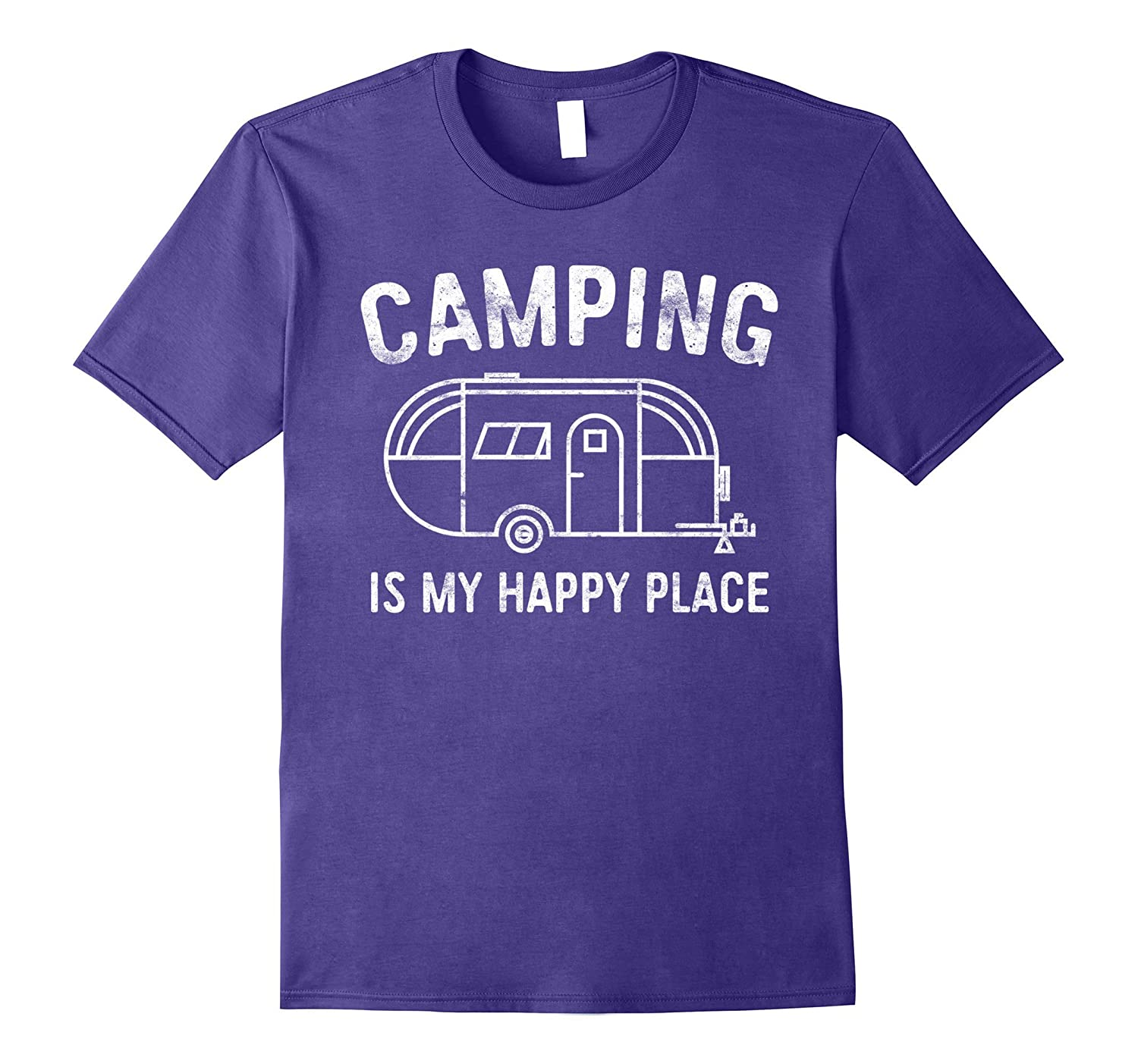 Camping Is My Happy Place T-Shirt Happy Camper Gift Shirt-Art