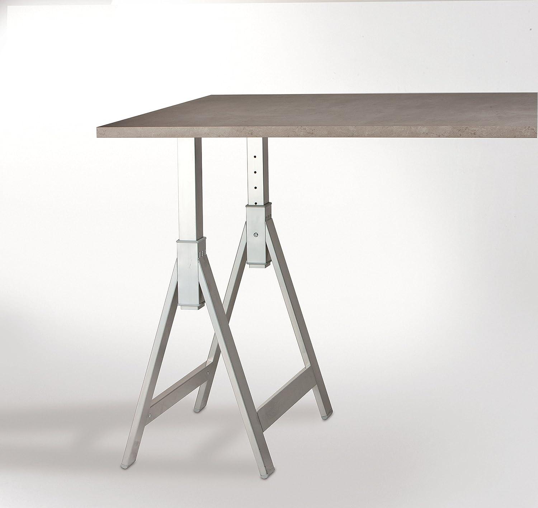 Tischbock Baumarkt tischbock tischgestell tischbein höhenverstellbar edelstahl optik