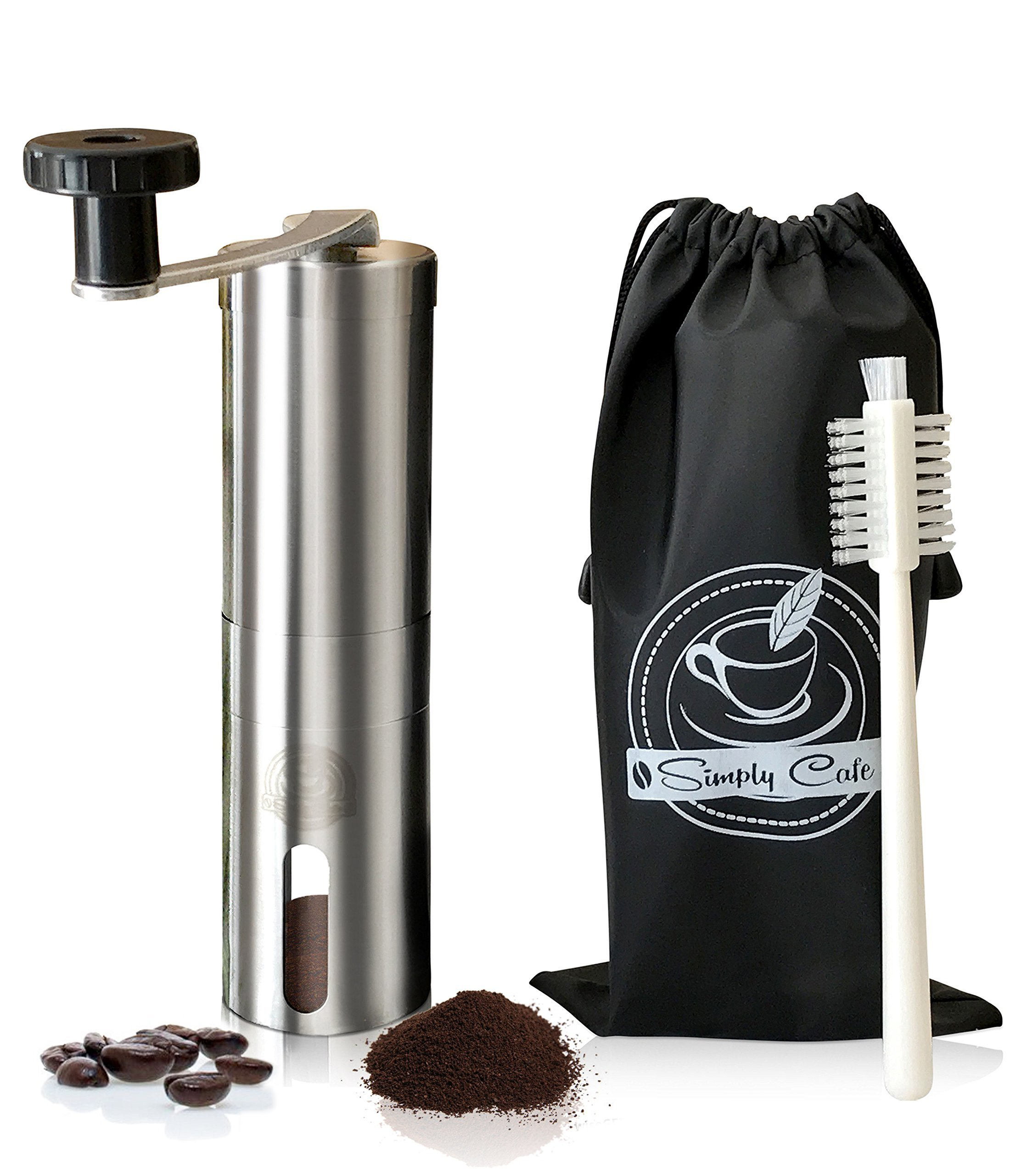 Simply Cafe Manual Coffee Grinder with Cleaning Brush and Travel Bag by Simply Cafe