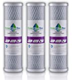 Universal 10 inch Carbon Block filter cartridge for Whole House Filter - 5 micron (3)
