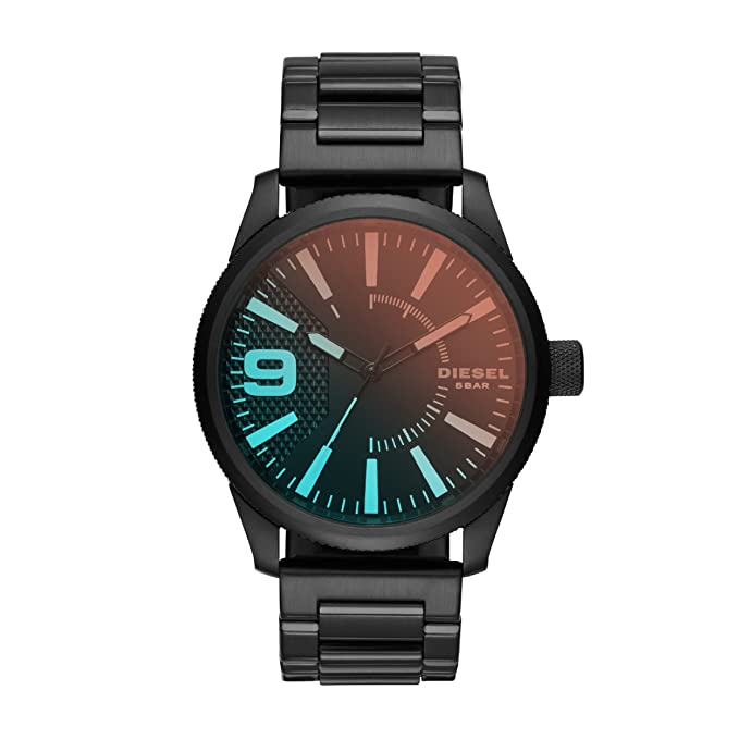 Diesel Reloj Analogico para Hombre de Cuarzo con Correa en Acero Inoxidable DZ1844: Amazon.es: Relojes