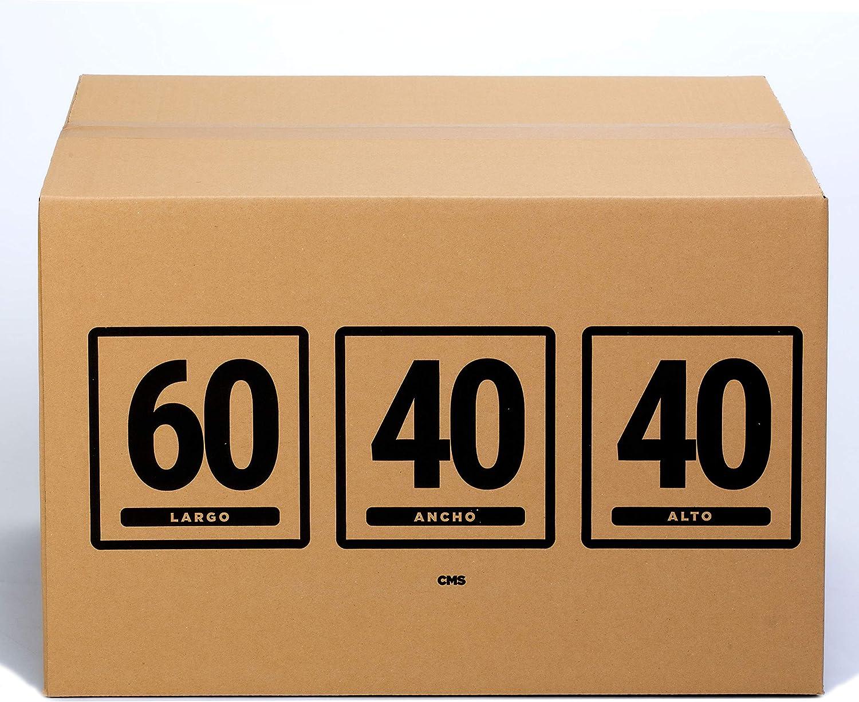 TeleCajas | (10x) Cajas de Cartón 60x40x40 cms | Una Onda - QR1782S | Lote de 10 unidades: Amazon.es: Oficina y papelería