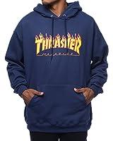 Thrasher Flames Medium Navy Hoodie Mens