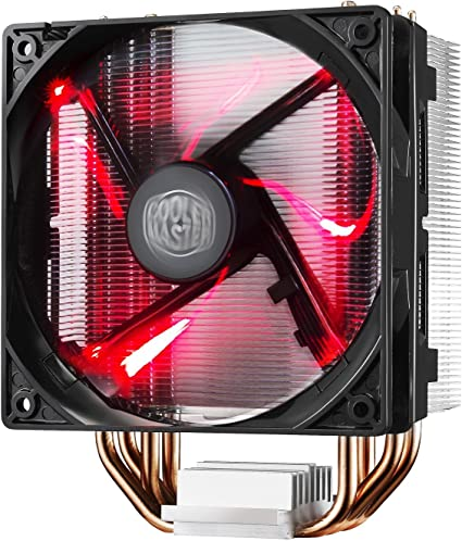 Amazon.com: Cooler Master RR-212L-16PR-R1 Hyper 212 LED CPU Cooler with PWM Fan, Four Direct Contact Heat Pipes, Unique Blade Design and Red LEDs (Renewed): Computers & Accessories
