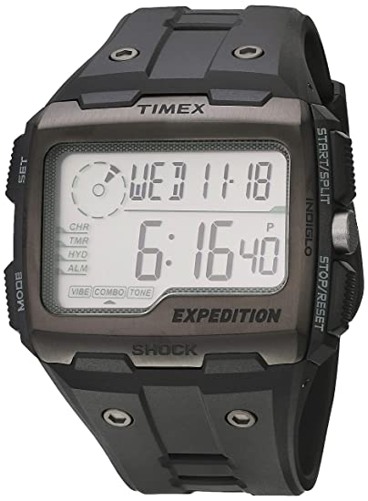d77c44eba5eb Timex Men s Expedition TW4B02500 Black Resin Quartz Watch  Timex   Amazon.ca  Watches