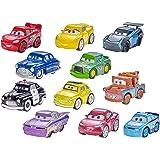 Mattel Disney Cars FBG74,1 Veicolo Mini Racers in Metallo, 1 Poster, Colori Assortiti