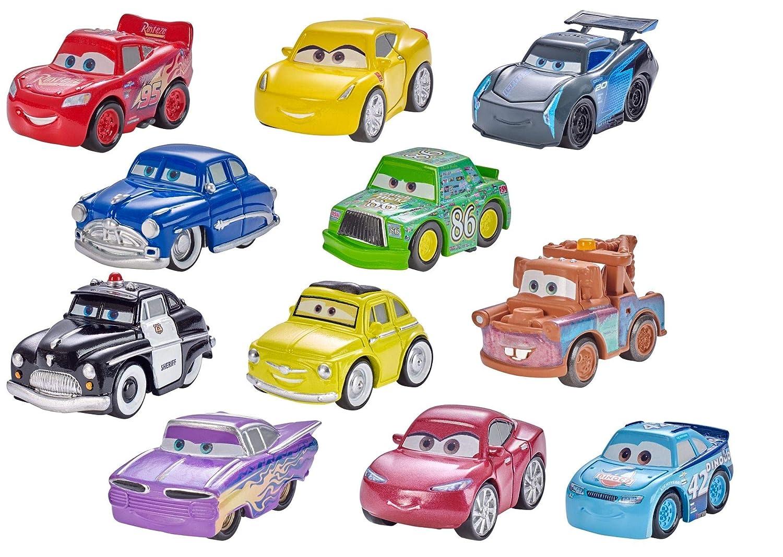 Mattel Disney Pixar Cars, 1 vehículo Mini Racers metal, 1 póster, surtido: modelos aleatorios FBG74