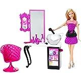 Barbie Malibu Ave Salon with Barbie Doll Playset