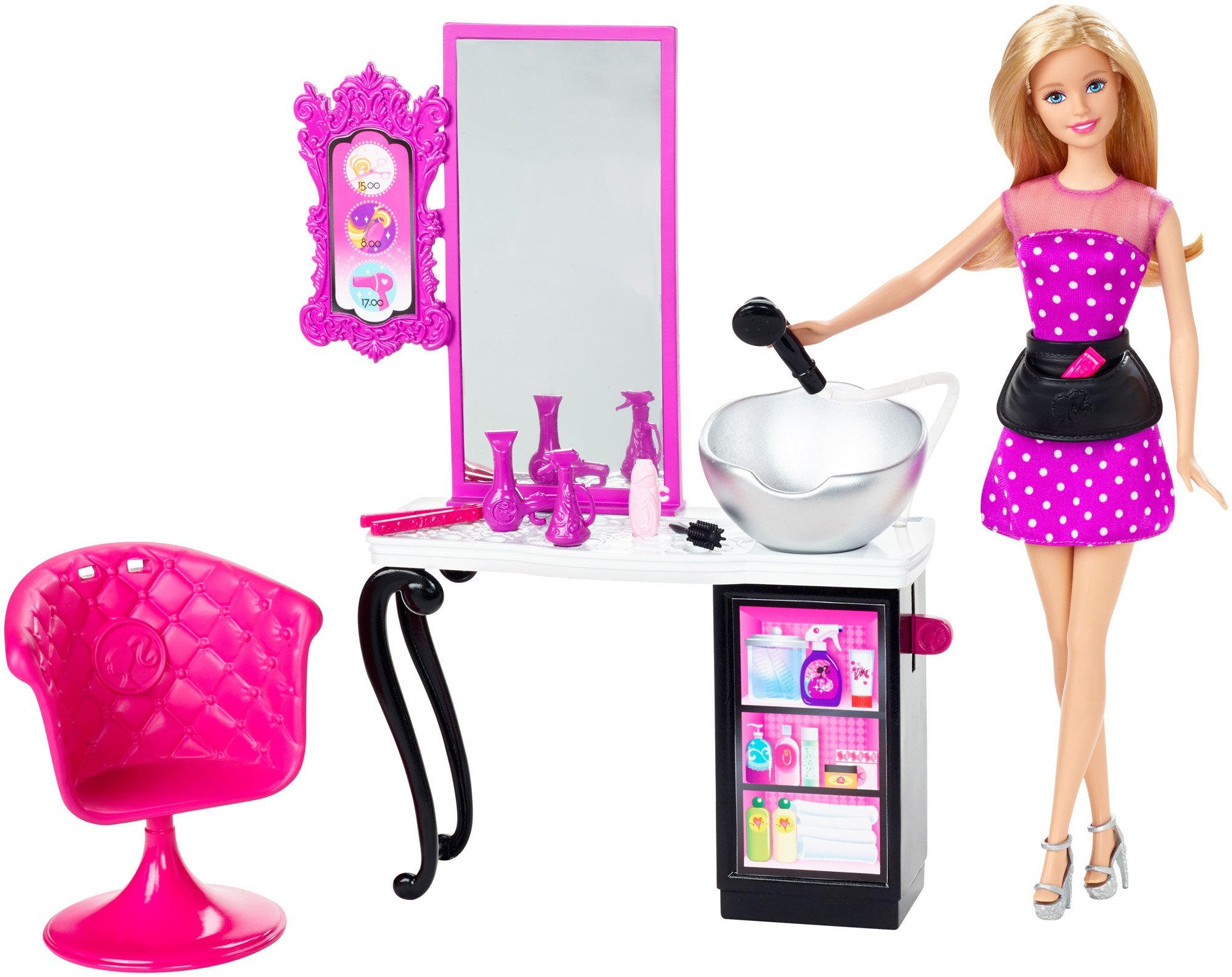 Ever After High CMM55 Barbie Malibu Ave Salon with Barbie Doll Playset