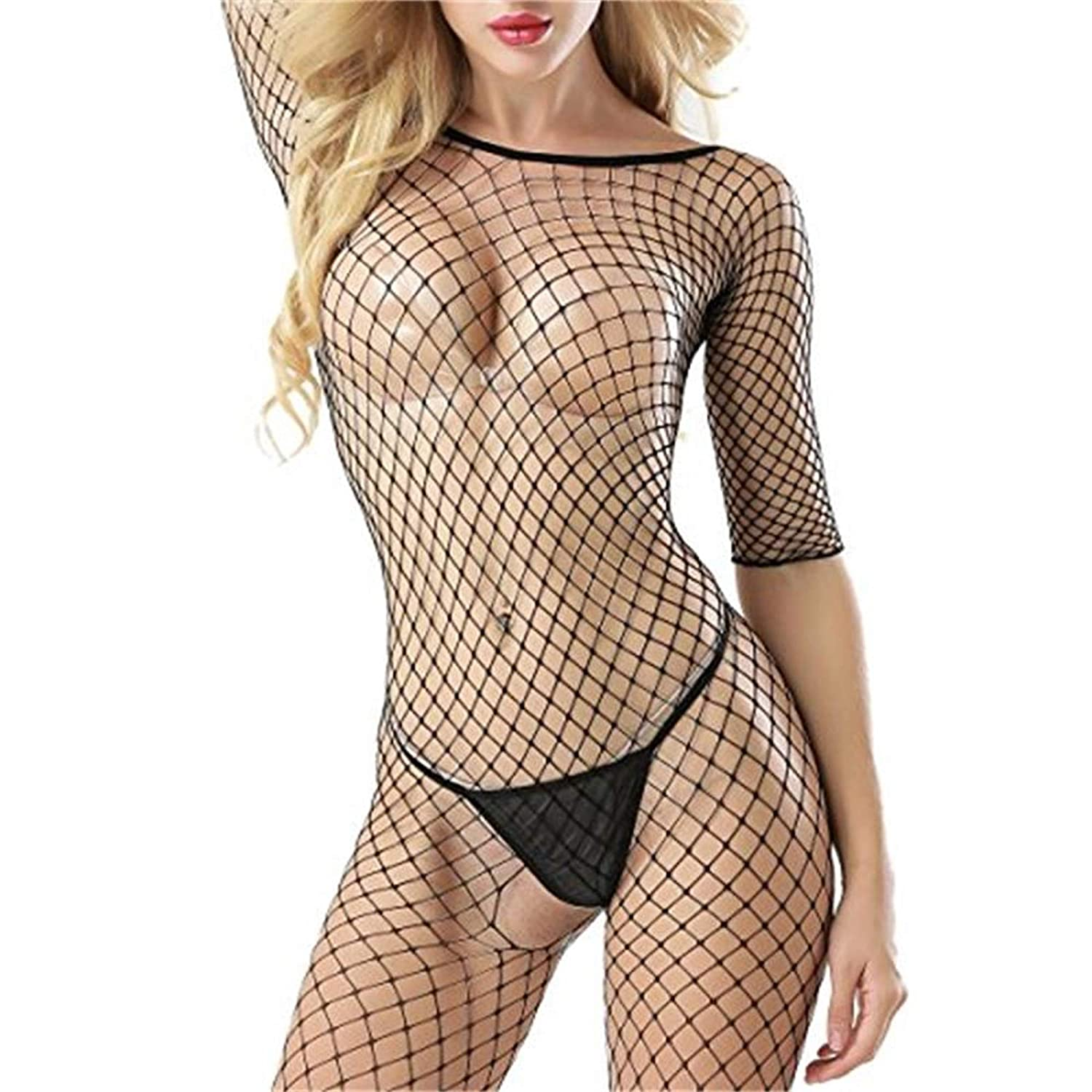 MHOYI Fishnet Bodysuit Lingerie for Women b39c23e9f