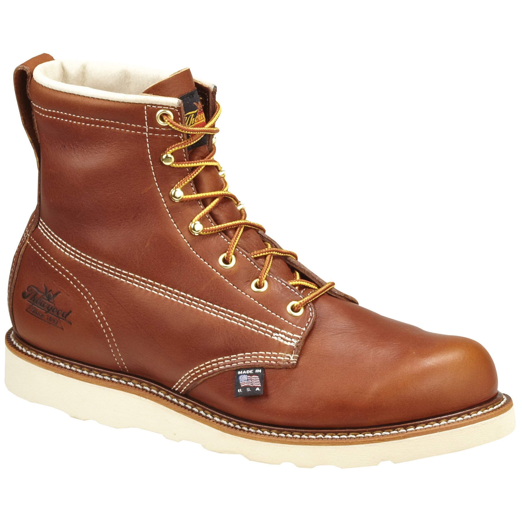 Men's Thorogood 6'' Emperor Toe Composite Safety Toe Work Boot Brown, Tobacco, 11 2E