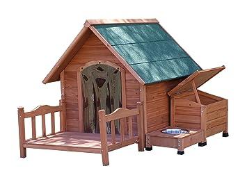 Marco de madera para caseta de perro con un techo - disponible en 3 tamaños y 3 colores y con o sin multiherramienta paquetes: Amazon.es: Productos para ...