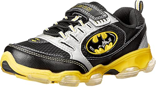Batman Boys New Toddler Light Up Athletic Sneaker Gym Shoes Size 11 12