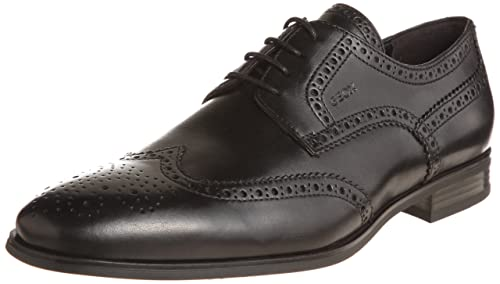 424e456e2dc7f Geox U ALBERT B Oxford Mens Black Schwarz (BLACK C9999) Size  10 (44 ...