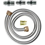 Dormont 0145811 48 in. Long 5/8 in. Outlet Diameter Gas Range Connector Kit, 1 pack, Yellow Coated