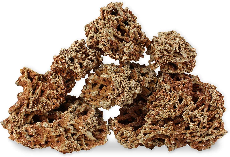 Decoración Acuario Roca Natural Piedra Ornamento Decor Caliza Roja Coral Juego de 15kg