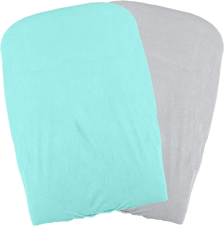 Juego de 2 fundas de cambiador color azul y verde Domiva