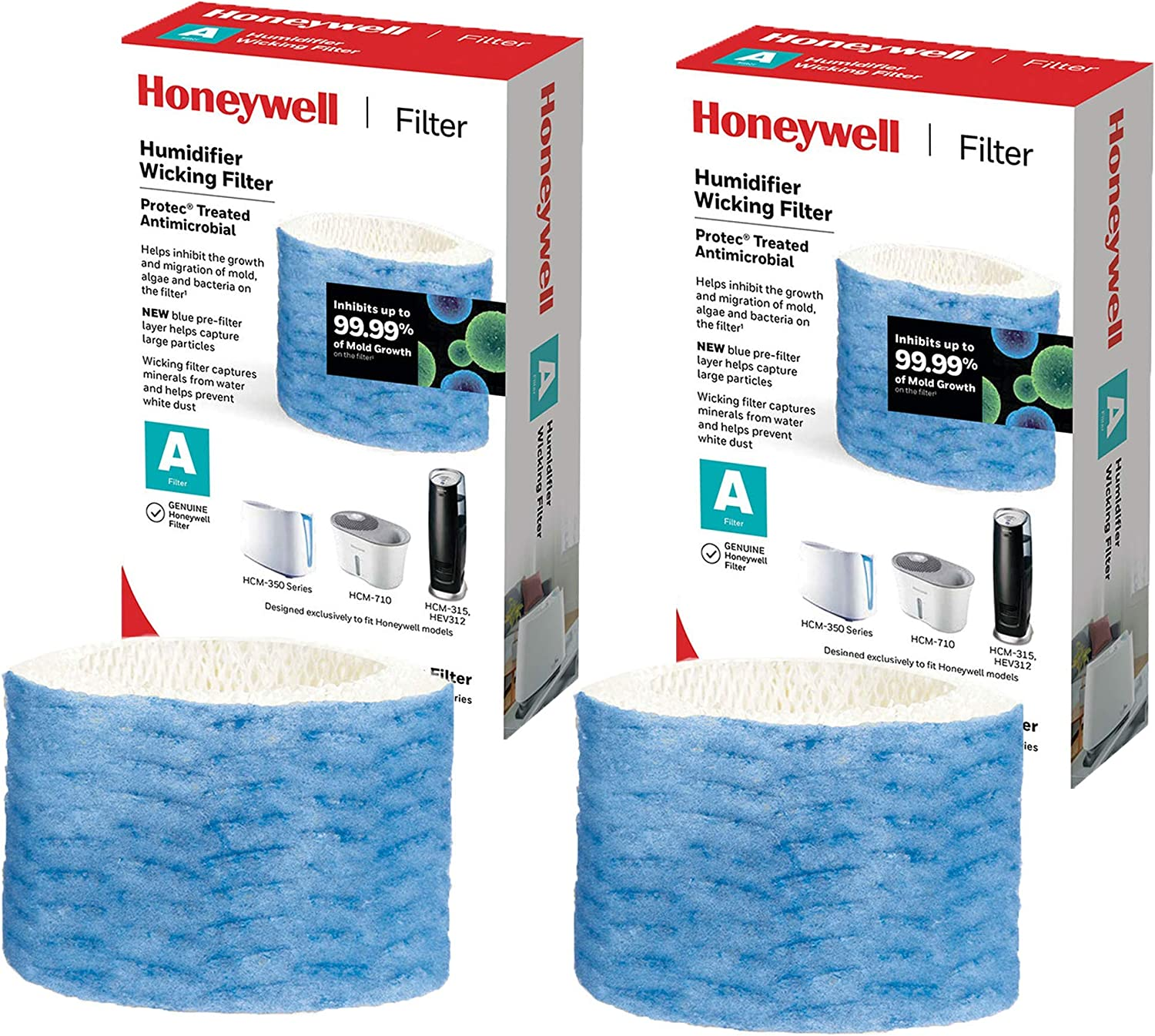 Honeywell HAC-504 Series Humidifier Replacement, Filter A - 2 Filters (Updated Version) Bundled with.