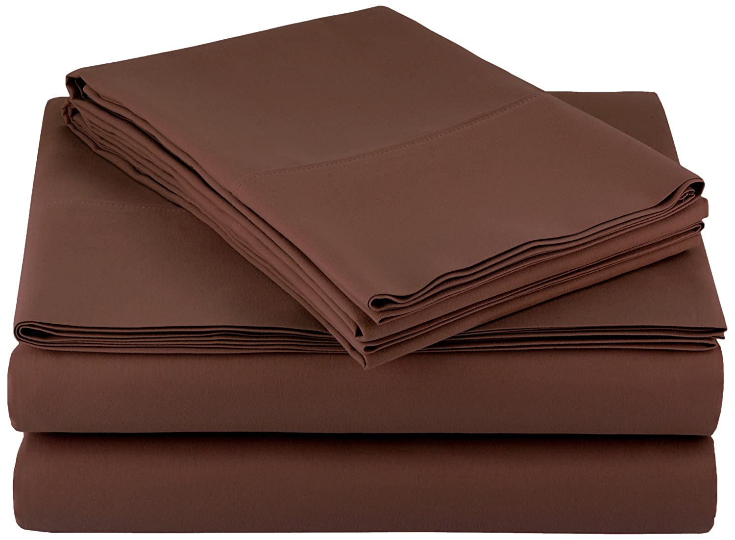 AmazonBasics Microfiber Sheet Set - Full, Chocolate