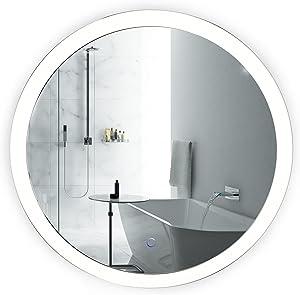 d05d556fcde7 Round LED Bathroom Mirror 27