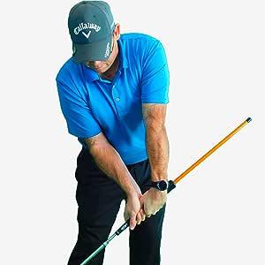 Anti-Flip Stick; Impact Golf Swing Training Aid | Teaches Proper Impact & Swing Plane | Golf Swing Trainer | Golf Chipping Practice Aid