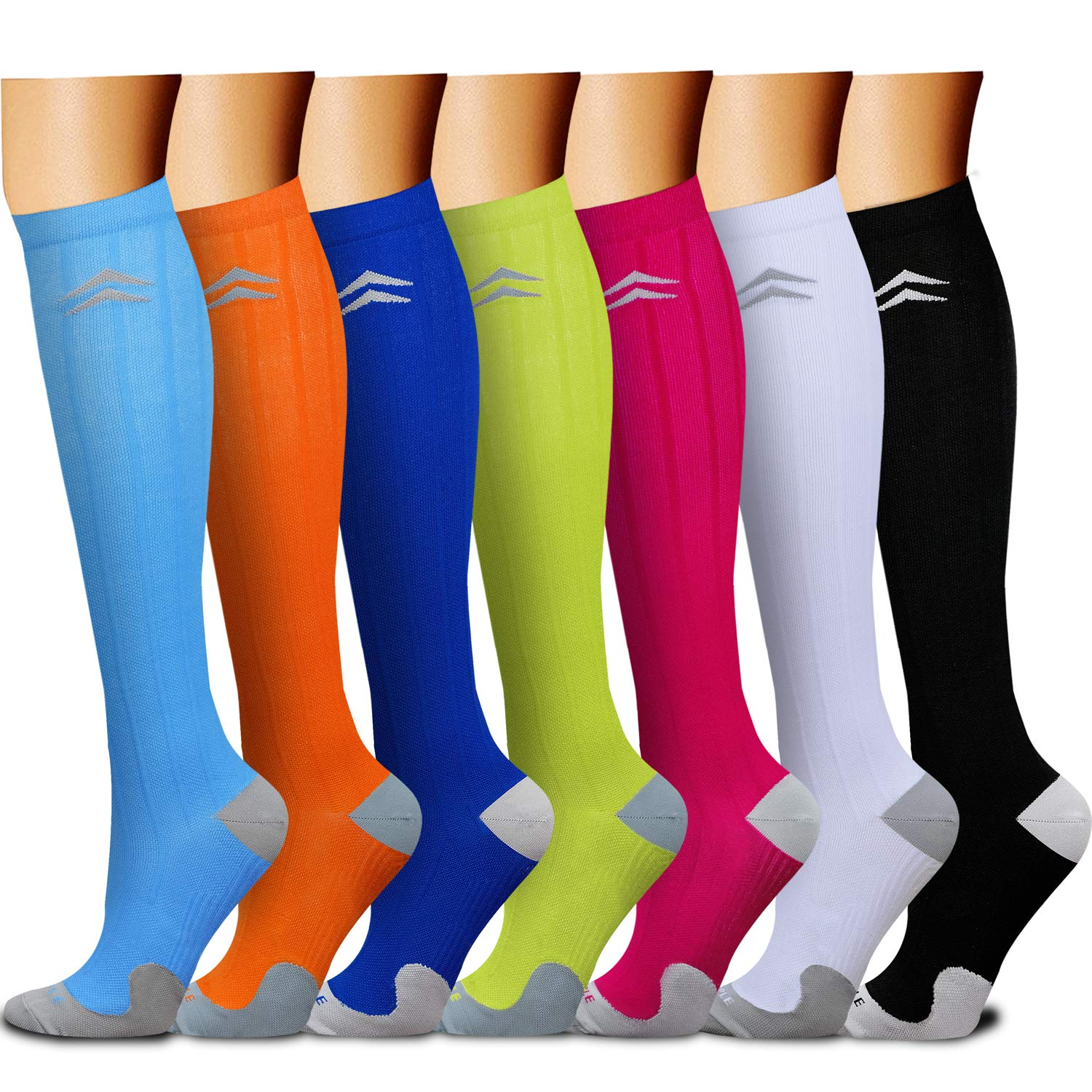CHARMKING Compression Socks 15-20 mmHg is BEST Graduated Athletic & Medical for Men & Women Running, Travel, Nurses, Pregnant - Boost Performance, Blood Circulation & Recovery(Small/Medium,Assorted11)
