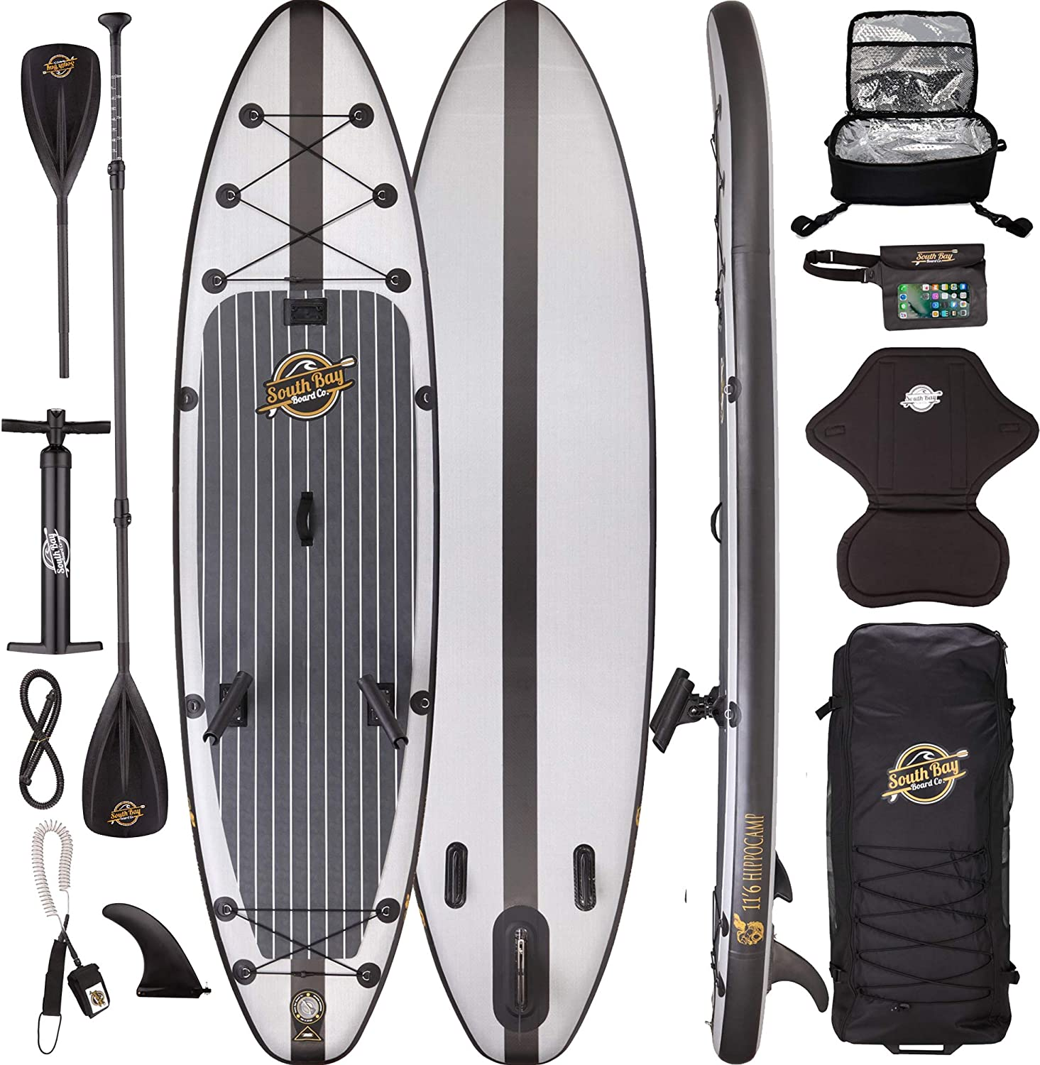 Premium Inflatable Stand Up Paddle Board Package – 11 6 Hippocamp Fishing ISUP
