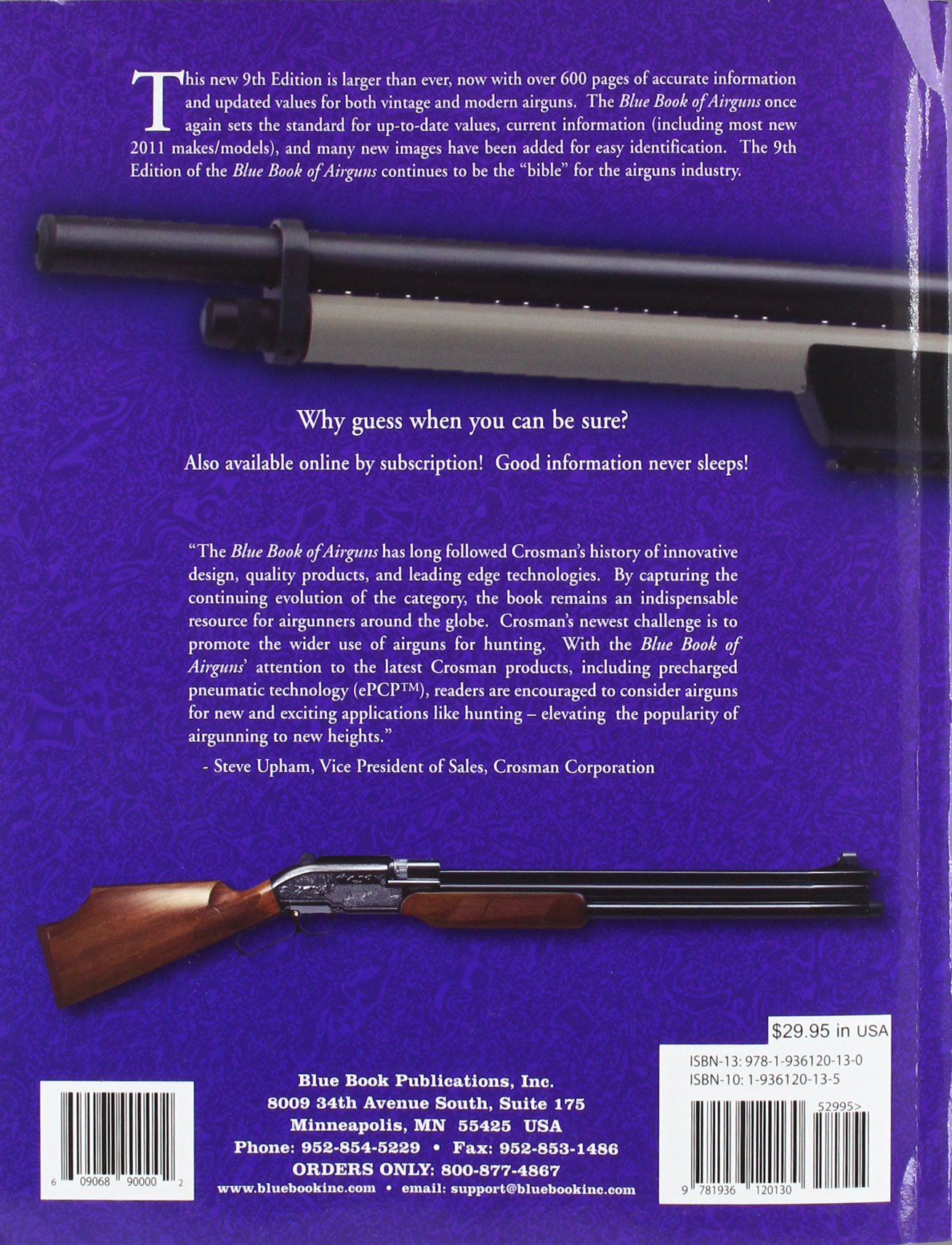 Blue Book of Airguns, 9th Edition: Dr. Robert D. Beeman, John B. Allen,  S.P. Fjestad: 9781936120130: Amazon.com: Books