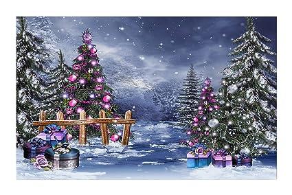 Mountain Christmas Tree.Amazon Com Janninse Winter Christmas Season Snow Mountain
