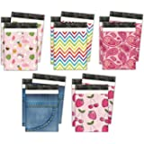 10x13 Variety Pack #3 Designer Poly Mailers Shipping Envelopes Premium Printed Bags 5 Designs (50pcs)