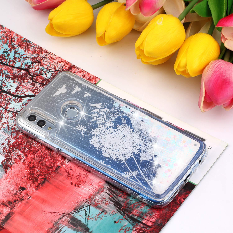 Anti Choc Arbre /à Fleurs ANCASE Couverture Coque pour Samsung Galaxy A50 Paillette Strass Brillante Glitter Bumper TPU Gel Silicone Transparente Housse Etui de Protection