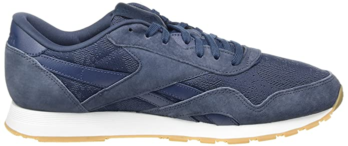 73f9c2d430a Reebok Men s Classic Nylon Hs Low-top Sneakers Blue (Smoky Indigo White-Gum)  11.5 UK  Buy Online at Low Prices in India - Amazon.in