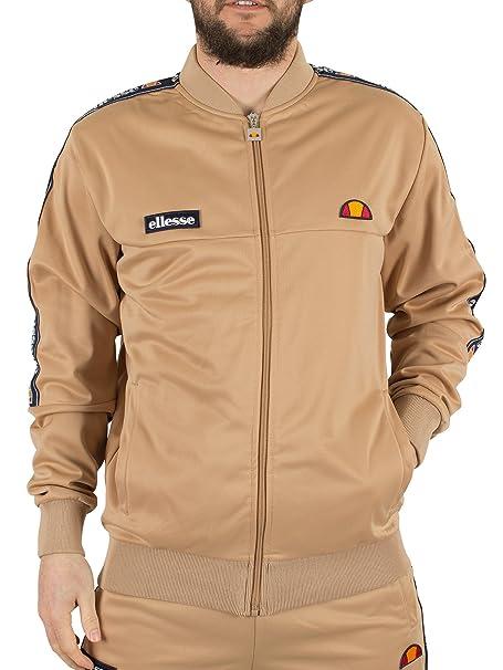 0b85c420 Ellesse Men's Squad Logo Tracktop, Brown, Large: Amazon.ca: Clothing ...