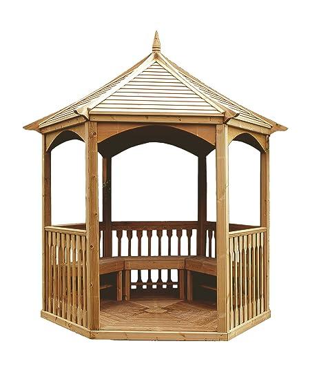 Kiosque Debussy en bois hexagonale avec toit en bois: Amazon ...