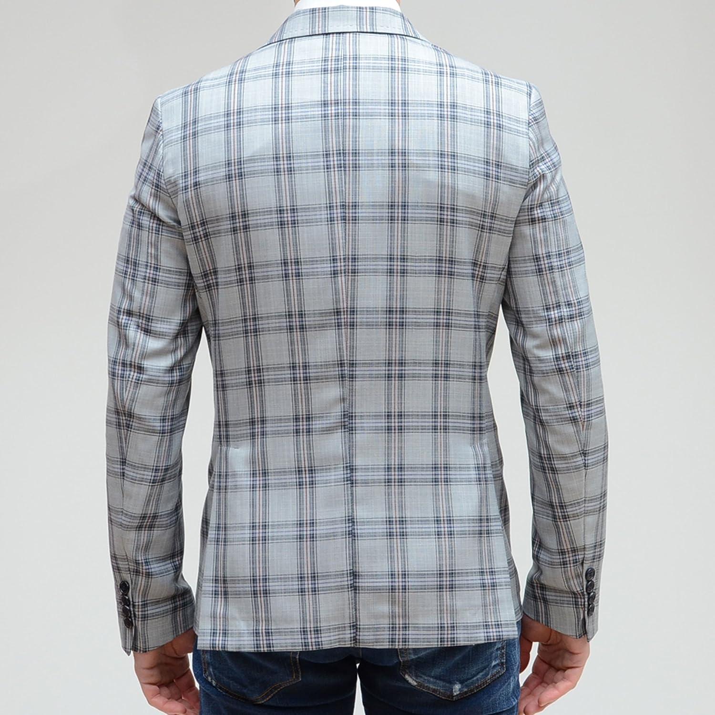 Giacca Uomo elegante casual Format Made in Italy grigia quadri fiorellino sportiva  slim fit top 8b32458c236