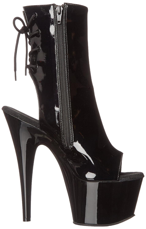 Pleaser Women's ADO1018/B/M Boot B00MH2F18K 5 B(M) US|Black Patent/Black