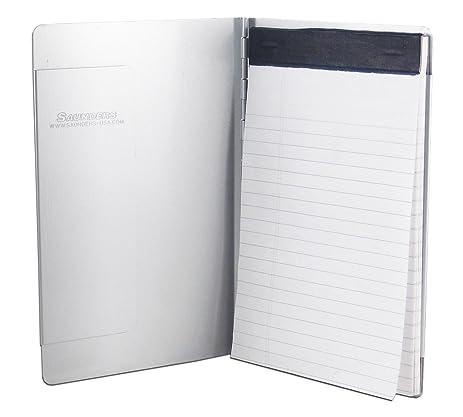Saunders Padfolio Memo, Recycled Aluminum, Silver, 1 Padfolio (00880)
