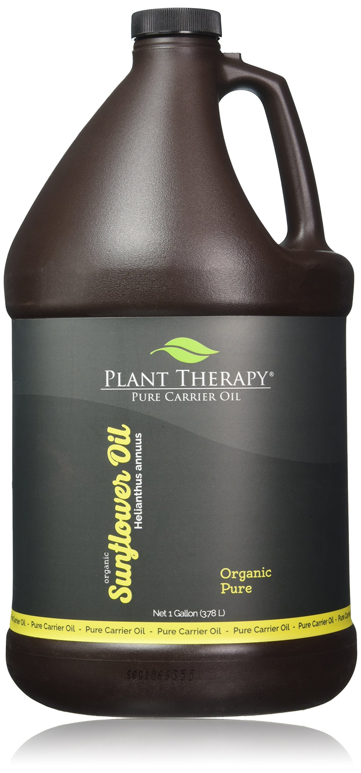 Plant Therapy Organic Sunflower Carrier Oil. A Base Oil for Aromatherapy, Essential Oil or Massage Use. 1 gal.