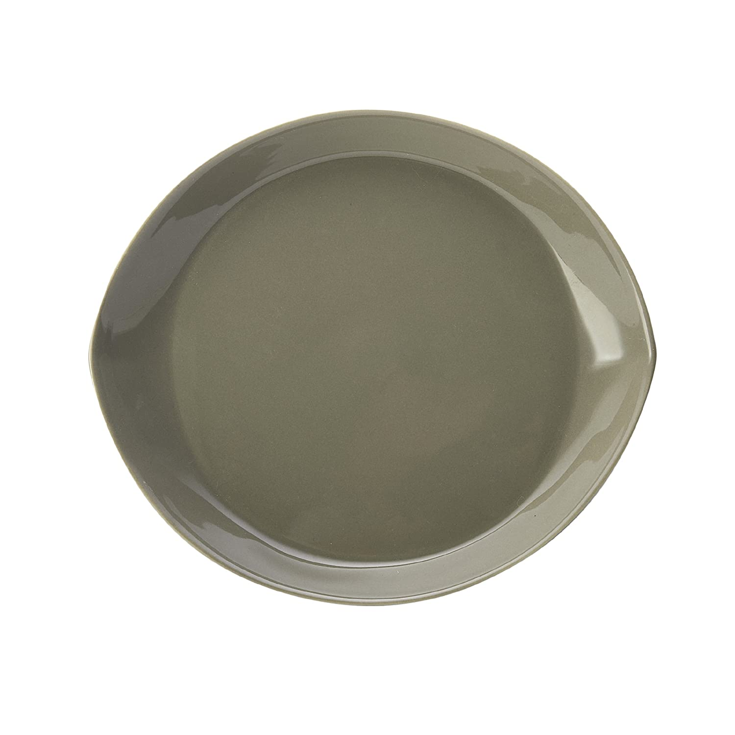 Mikasa Kalini White Dinner Plate 11.25-Inch-by-9.75-Inch