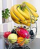 EVER RICH ® FRUIT BOWL WITH BANANA HANGER (CHROME)