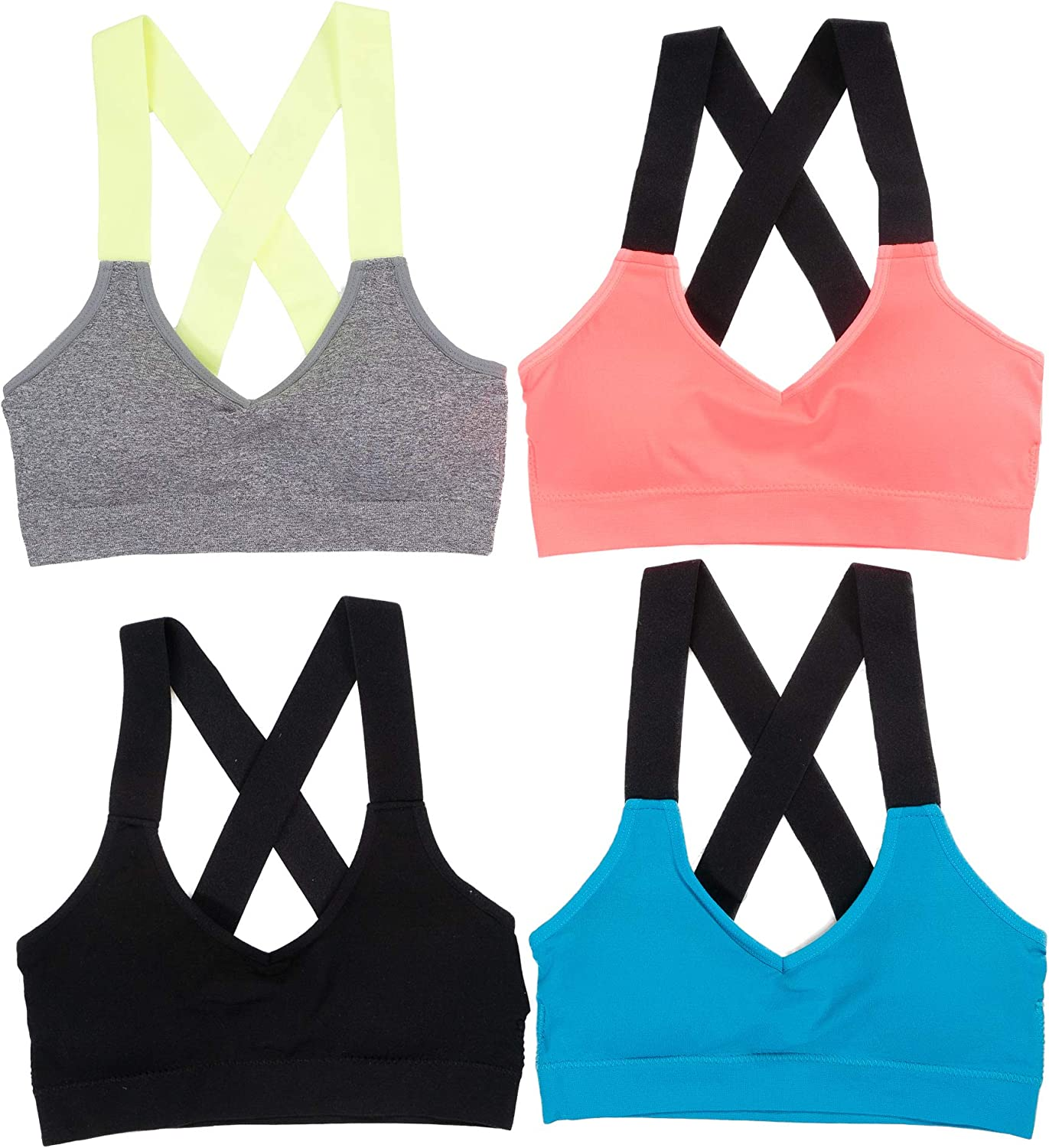 Alyce Athletics Womens Sports Bra, Pack of 4 at  Women's Clothing store