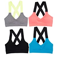 Alyce Athletics Womens Sports Bra, Pack of 4
