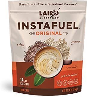 product image for Laird Superfood Instafuel Instant Coffee - Delicious Mix of Premium Coffee and Our Original Superfood Non-Dairy Creamer, 1lb Bag